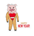 pig in overalls vector image