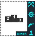 podium icon flat vector image