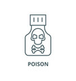 poison line icon linear concept outline vector image vector image