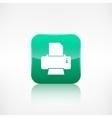 Printer web icon Application button vector image vector image