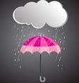 Rainy day rainy umbrella vector image