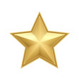 realistic metallic golden star isolated on white vector image vector image