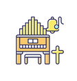 religeous music rgb color icon vector image