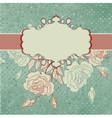Romantic elegant floral with vintage roses EPS 8 vector image vector image