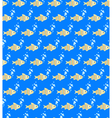 Seamless sea pattern Yellow fish and light blue vector image vector image