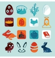 Set of easter icons vector image vector image