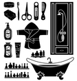 Set of things for bathing vector image vector image