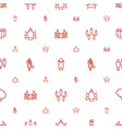 staff icons pattern seamless white background vector image vector image