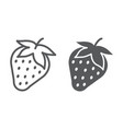strawberry line and glyph icon fruit and vitamin vector image vector image
