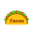 traditional mexican tacos food truck sign logo vector image vector image