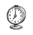 vintage alarm clock vector image vector image