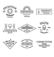 Vintage and retro style logos and labels set vector image vector image
