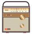 vintage radio brown vector image