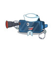 vr virtual reality cartoon happy sailor style vector image vector image