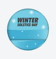 winter solstice day background vector image vector image