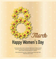 womens day typogrpahic card with light background vector image vector image