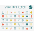 Smart house concept Icon set Flat style design vector image