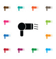 isolated drying icon hairdresser element vector image
