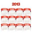 2013 Calendar vector image