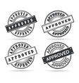 approve circle seal templates vector image vector image