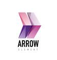 arrow geometric design logo vector image