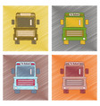 assembly flat shading style icon school bus vector image vector image