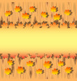 Autumn maple leaves on wood background