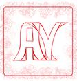 AY monogram vector image