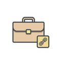 bag briefcase business link portfolio vector image vector image
