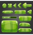 Big set of shiny button vector image vector image
