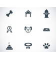 Black dog icons set