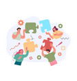 business team office workers character building vector image