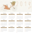 Calendar for 2014 vector image vector image