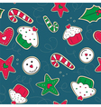 Christmas gingerbread cookies green and red vector image
