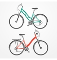 City bicycles vector image