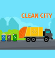 city waste recycling concept vector image vector image