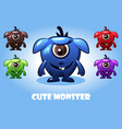 collection of cute cartoon baby monsters vector image