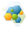 Colorful bright geometry hexagons background vector image vector image