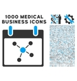 Connections Calendar Day Icon With 1000 Medical vector image vector image