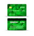 credit or debit bank card design set vector image vector image