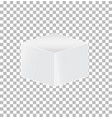 cube transparent icon on white background cube vector image