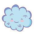 cute cloud cartoon vector image