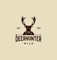 deer hunt logo template elegant deer head logo vector image vector image