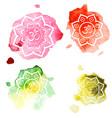diwali om symbol on watercolor background vintage vector image vector image