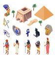 egypt isometric set vector image vector image