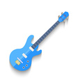 Electro Guitar Flat Design isolated on white vector image vector image