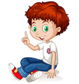 English boy with red hair vector image