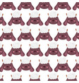 farm sheep faces animal decoration textile vector image