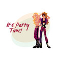 glam rock party invitation banner poster template vector image vector image