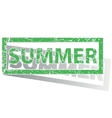 Green outlined SUMMER stamp vector image vector image